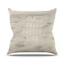 Fly Away Pretty Bird Throw Pillow