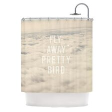Fly Away Pretty Bird Polyester Shower Curtain