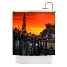 Paris Polyester Shower Curtain