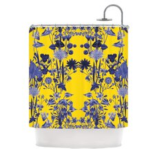 Bloom Flower Polyester Shower Curtain