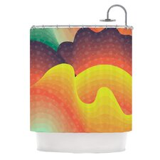 Waves, Waves Polyester Shower Curtain