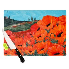 Poppies Cutting Board