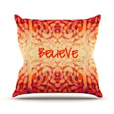 Tattooed Believer Throw Pillow