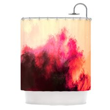 Painted Clouds II Polyester Shower Curtain