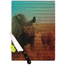 Abstract Rhino Cutting Board