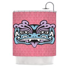 Fu Dog Polyester Shower Curtain