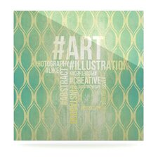 Hashtag by Original Graphic Art Plaque