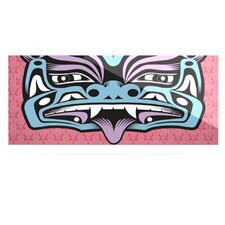 Fu Dog by Louie Gong Graphic Art Plaque in Blue/Pink