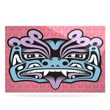 Fu Dog by Louie Gong Graphic Art Plaque in Blue and Pink