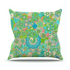 Welcome Birds to my Garden by Julia Grifol Throw Pillow