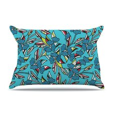 Paper Leaf Fleece Pillow Case