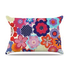 Patchwork Flowers Fleece Pillow Case
