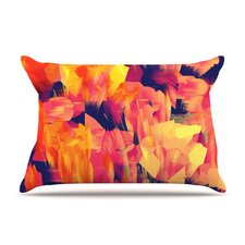 Geo Flower Microfiber Fleece Pillow Case