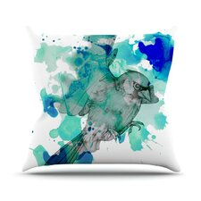 A Cardinal in Blue Throw Pillow