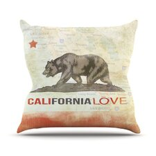 Cali Love by iRuz33 Throw Pillow