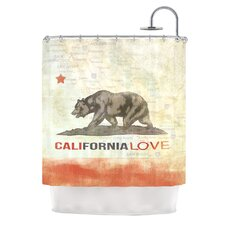 Cali Love Polyester Shower Curtain