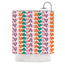 Hearts Polyester Shower Curtain
