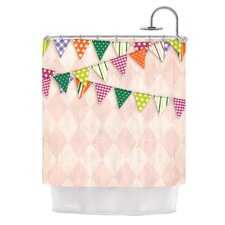 Flags 2 Polyester Shower Curtain