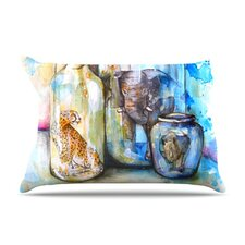 Bottled Animals Fleece Pillow Case