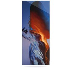 Volcano Girl by Lydia Martin Graphic Art Plaque in Blue/Orange