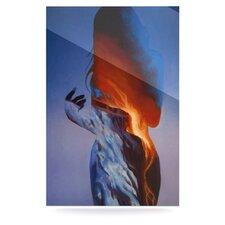 Volcano Girl by Lydia Martin Graphic Art Plaque in Blue/Orange