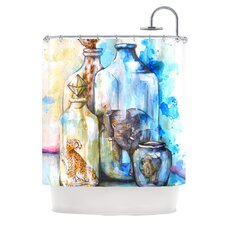 Bottled Animals Polyester Shower Curtain