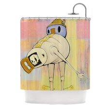 Good Day Polyester Shower Curtain