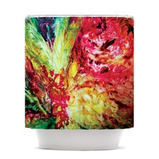 Passion Flowers I Polyester Shower Curtain