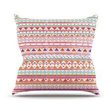Native Bandana by Nika Martinez Throw Pillow