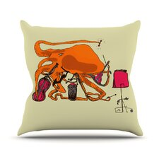 <strong>KESS InHouse</strong> Playful Octopus Throw Pillow