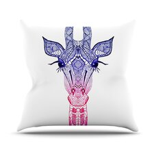 <strong>KESS InHouse</strong> Rainbow Giraffe Throw Pillow