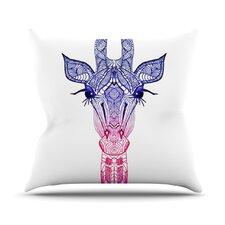 Rainbow Giraffe by Monika Strigel Throw Pillow
