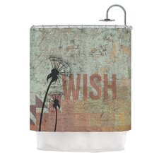 Wish Polyester Shower Curtain