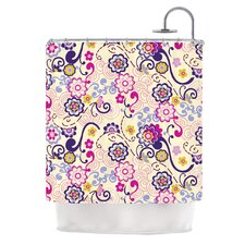 Arabesque Polyester Shower Curtain