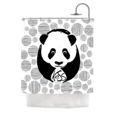 Panda Polyester Shower Curtain