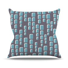 Cubic Geek Chic by Michelle Drew Throw Pillow