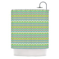 Chevron Love Polyester Shower Curtain