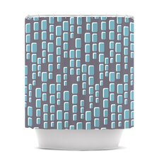 Cubic Geek Chic Polyester Shower Curtain