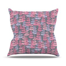 My Leaves Garden by Julia Grifol Throw Pillow