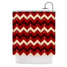 Chevron Dance Polyester Shower Curtain