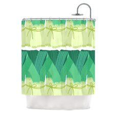 Leeks Polyester Shower Curtain