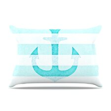 Stone Vintage Anchor Fleece Pillow Case