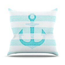 <strong>KESS InHouse</strong> Stone Vintage Anchor Throw Pillow