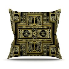 Golden Art Deco Throw Pillow