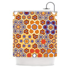 Flower Garden Polyester Shower Curtain