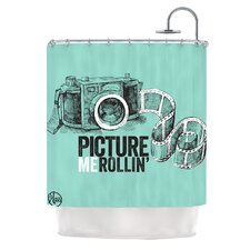Picture Me Rollin Polyester Shower Curtain