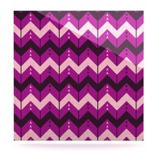 Chevron Dance by Nick Atkinson Graphic Art Plaque