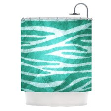 Zebra Texture Polyester Shower Curtain
