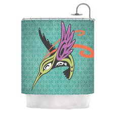 Hummingbird Friends Polyester Shower Curtain