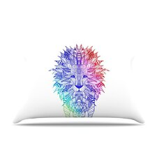 Rainbow Lion Fleece Pillow Case